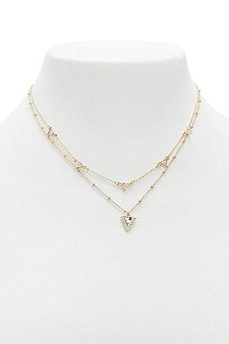 Forever21 Triangle Charm Necklace Set
