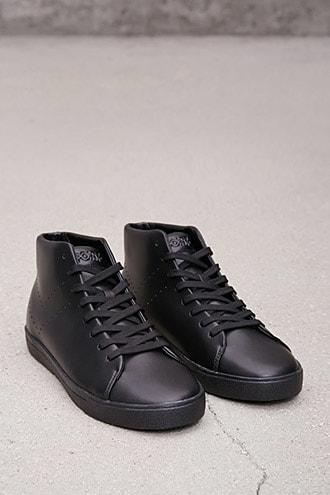 Forever21 Pony Perforated Leather Sneakers
