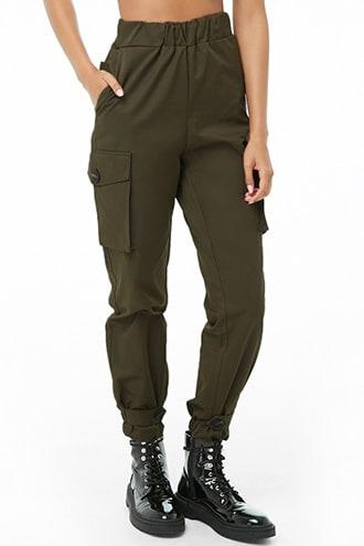 Forever21 Button-strap Utility Pants