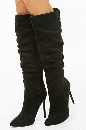 Forever21 Slouchy Faux Suede Knee-high Boots