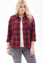 Forever21 Plus Size Tartan Plaid Shirt