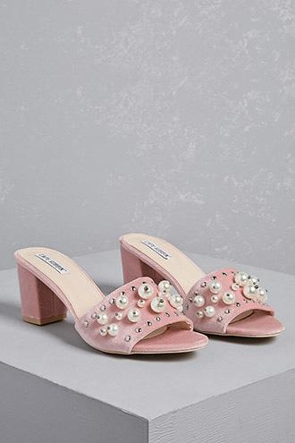 Forever21 Studded Denim Mules