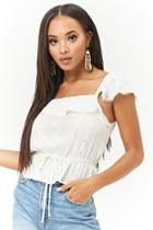 Forever21 Flounce Eyelet Top