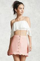 Forever21 Buttoned Mini Skirt
