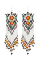 Forever21 Beaded Fringe Duster Earrings