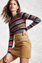 Forever21 Ribbed Knit Striped Sweater