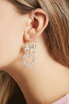Forever21 Rhinestone Bow Drop Earrings