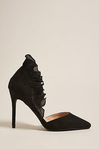 Forever21 Pleated-trim Pointed Pumps