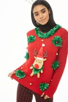 Forever21 Reindeer Christmas Sweater