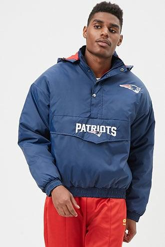 Forever21 Nfl Hooded Patriots Pullover Jacket