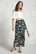 Forever21 Floral Wrap Skirt
