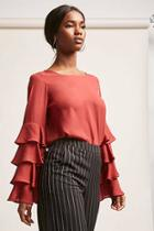 Forever21 Tiered Chiffon Top