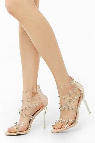 Forever21 Strappy Rhinestone Studded Heels