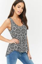 Forever21 Abstract Vented Top