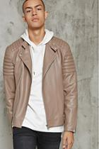 Forever21 Ribbed Faux Leather Jacket