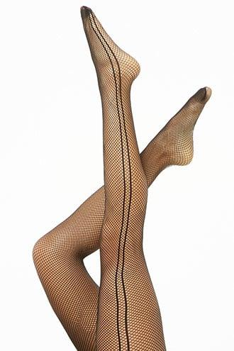 Forever21 Side-striped Mesh Tights