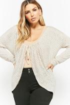 Forever21 Plus Size Striped Cardigan
