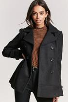 Forever21 Hooded Double-breasted Peacoat