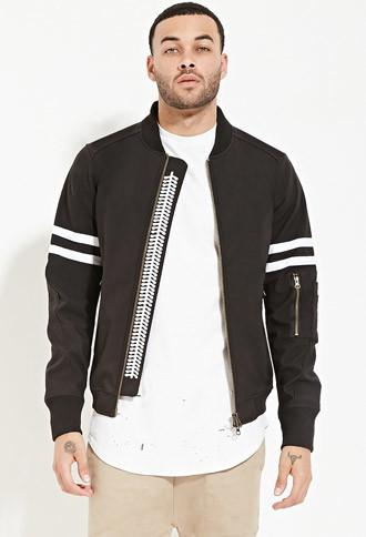 21 Men Civil Fearless Bomber Jacket