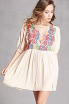 Forever21 Embroidered Babydoll Tunic