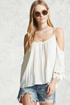 Forever21 Crochet Lace Woven Top
