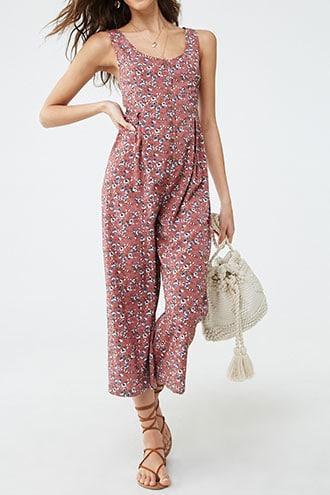 Forever21 Ditsy Floral Print Jumpsuit
