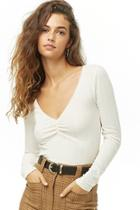 Forever21 Ruched Ribbed Top
