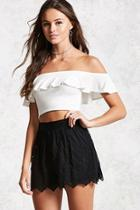 Forever21 Embroidered Lace Shorts
