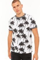 Forever21 Palm Tree Striped Tee