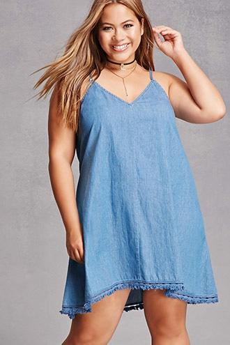 Forever21 Plus Size Denim Cami Dress