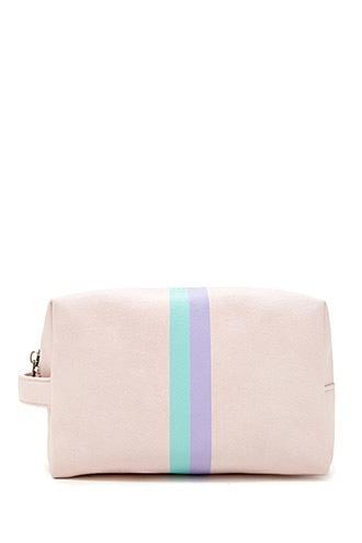 Forever21 Contrast Stripe Makeup Bag