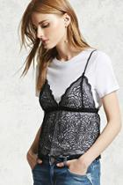 Forever21 Lace Combo Top