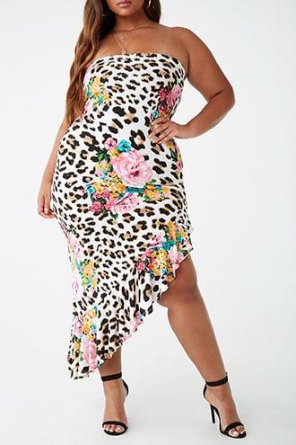 Forever21 Plus Size Floral Leopard Print Dress