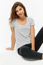 Forever21 Striped Scoop-neck Tee