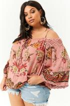 Forever21 Plus Size Floral Peasant Top