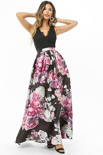 Forever21 Soieblu Floral Gown
