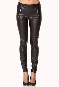 Forever21 Zip Pocket Faux Leather Pants