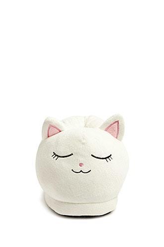 Forever21 Cat Face Fleece Slippers