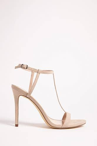 Forever21 Faux Suede T-strap Heels
