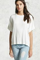 Forever21 Boxy Ribbed Tee