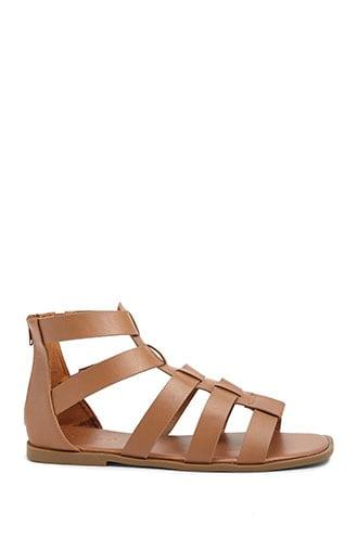 Forever21 Faux Leather Caged Sandals