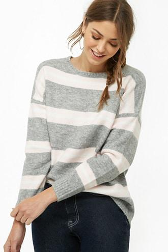 Forever21 Striped Brushed Knit Sweater