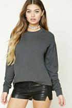 Forever21 Cotton Dropped-sleeve Tee