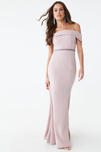Forever21 Foldover Off-the-shoulder Gown