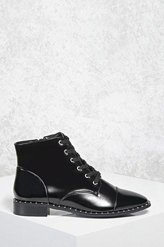 Forever21 Faux Leather Studded Boots