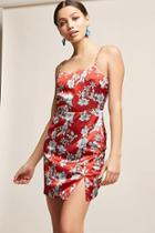 Forever21 Floral Satin Cami Dress