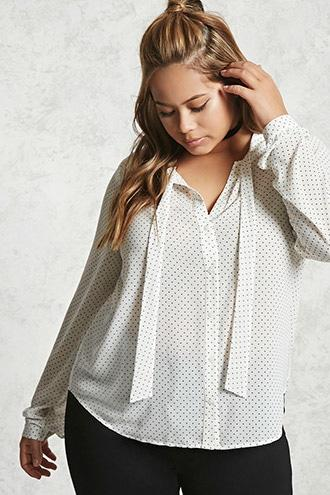Forever21 Plus Size Dotted Print Top