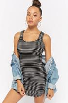 Forever21 Striped Ribbed Tank Dress