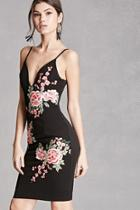 Forever21 Floral Embroidered Cami Dress