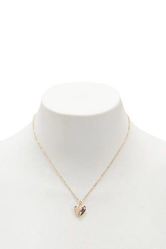 Forever21 Heart Locket Pendant Necklace